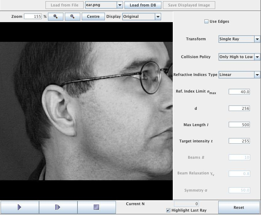 Southampton's image ray transform is able to locate and extract ears in images of peoples' heads