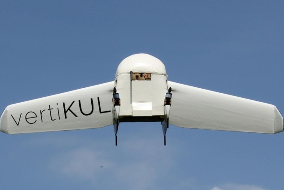 The VertiKUL drone in hovering mode