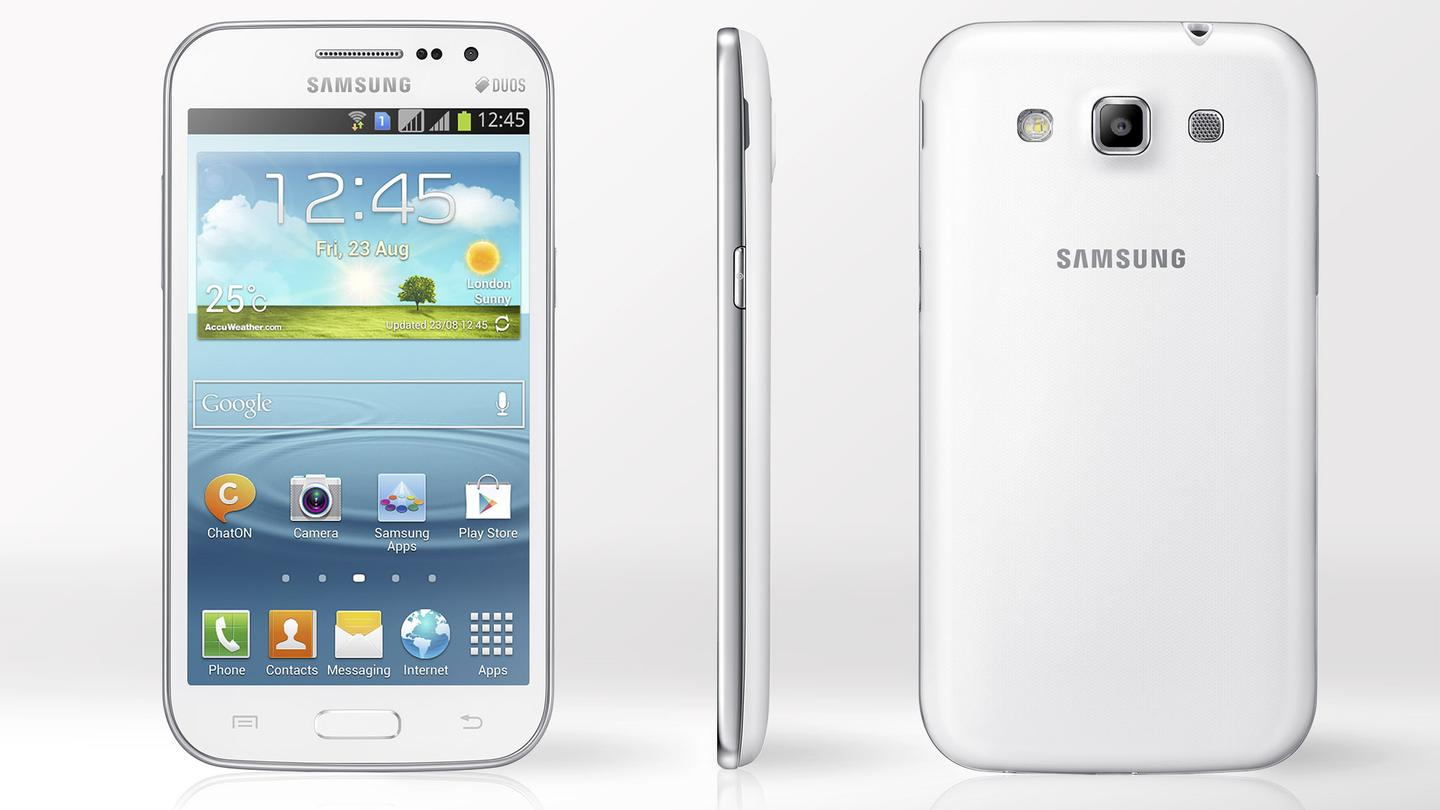 Samsung announced the Galaxy Win, a device with familiar branding and mid-range specs