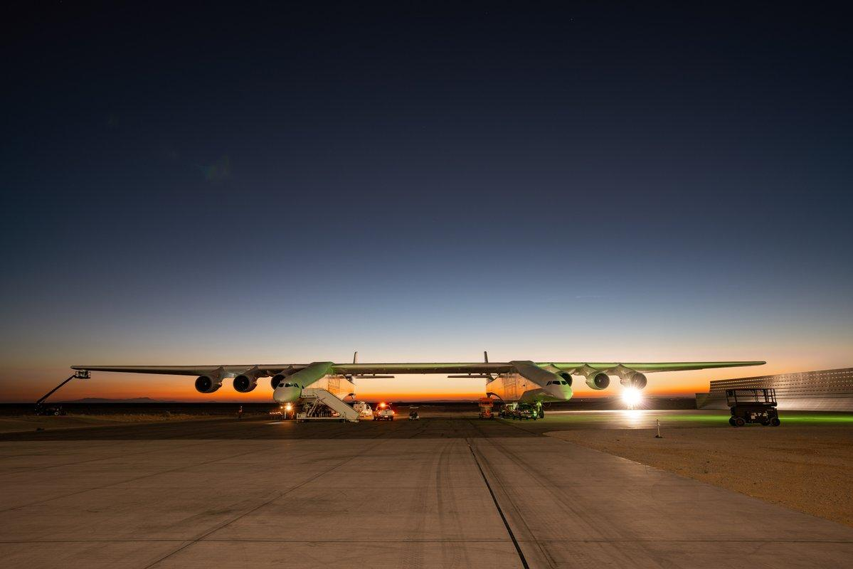The latest tests saw the Stratolaunch reach speeds of up to 90 mph