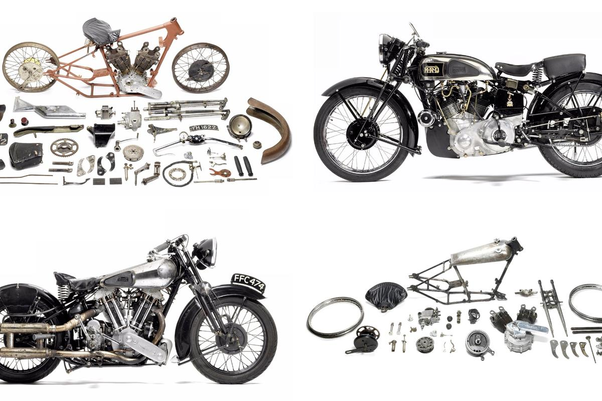 Pictured are the four top selling lots at Bonhams' Stafford Autumn Motorcycle Auction weekend