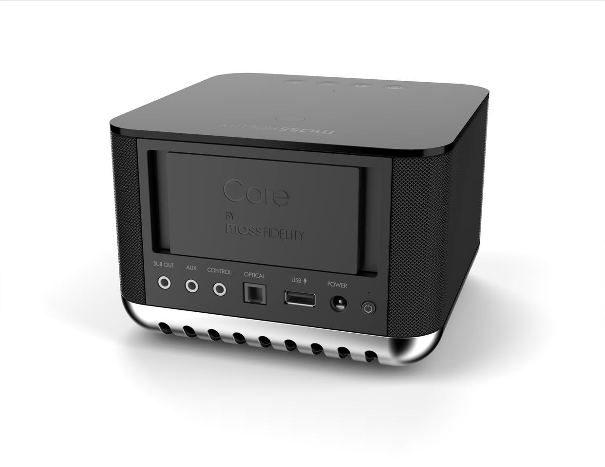 Connections to the rear include both analog and digital inputs, a USB port capable of charning mobile devices and a control jack allows for use in home automation setups