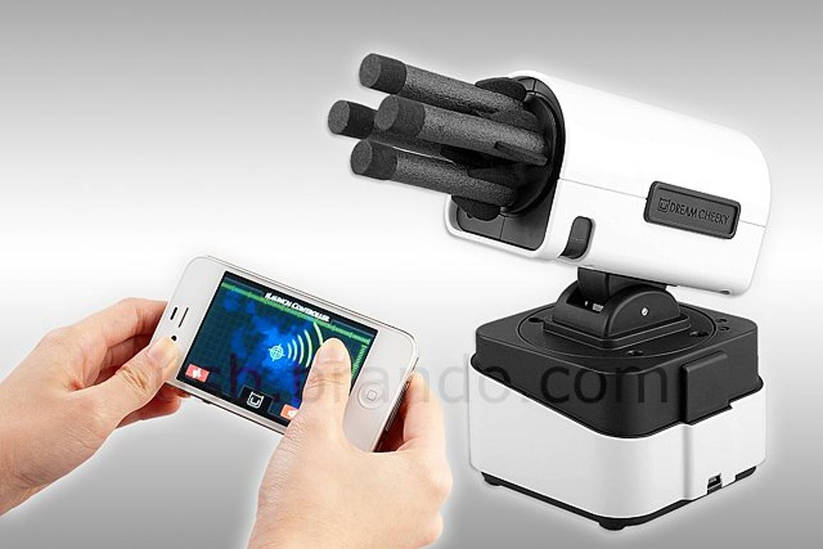 The iLaunch Thunder is controlled by your iPhone, iPad, or iPod touch
