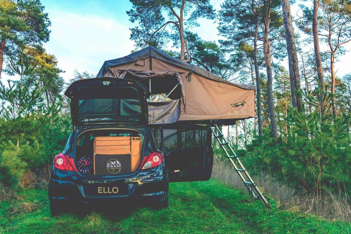 Small, simple Ello camping box turns compact cars into off