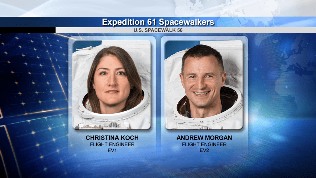 Astronauts Christina Kock and Andrew Morgan