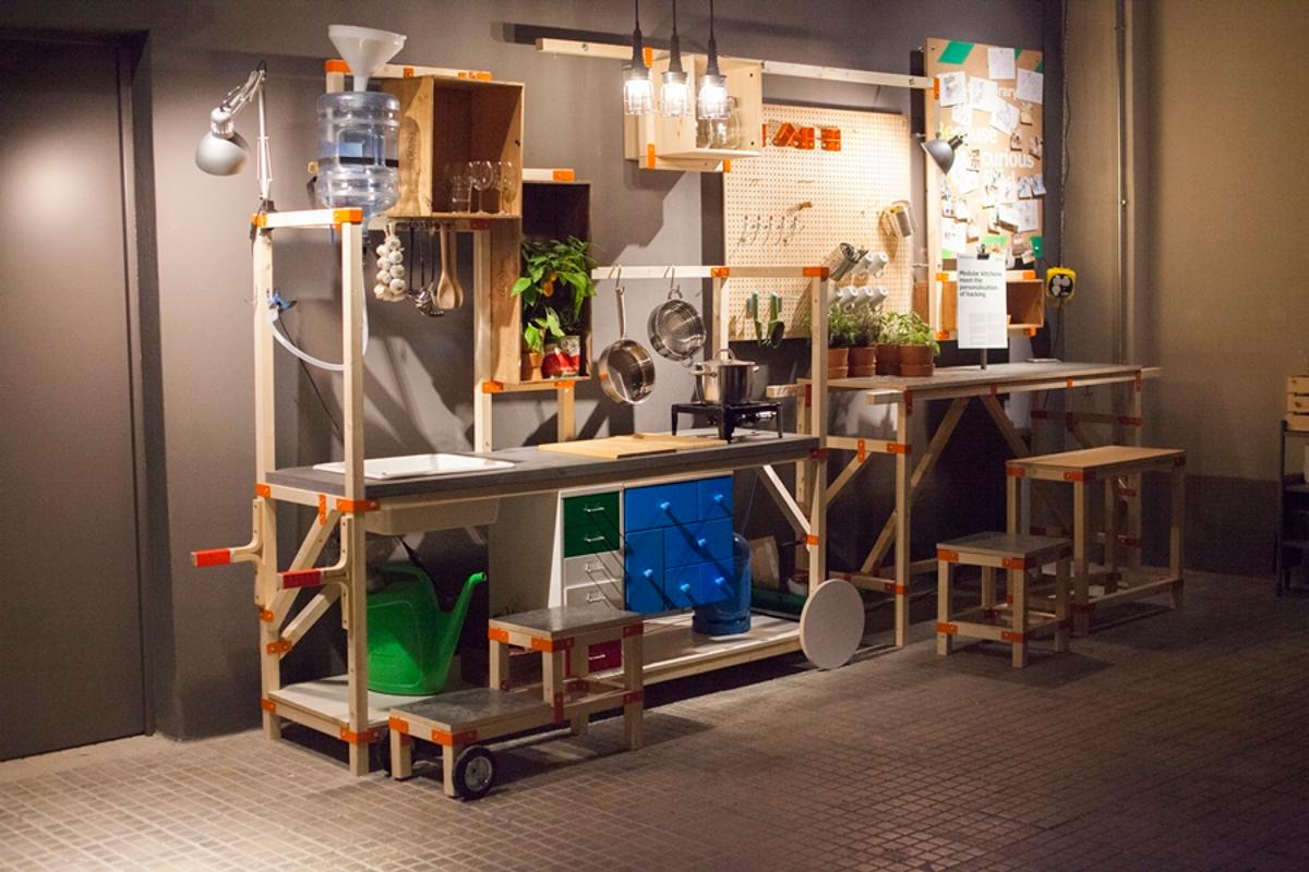 The Idea Hacka kitchen is designed to be modified to meet the user's needs