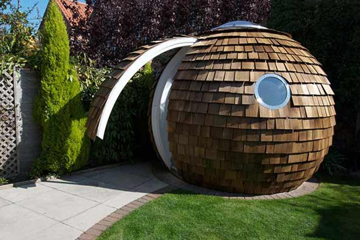Archipod's Pod may be unusual to look at but it's an eco-friendly, energy-efficient garden office (Image:GreenMuze)