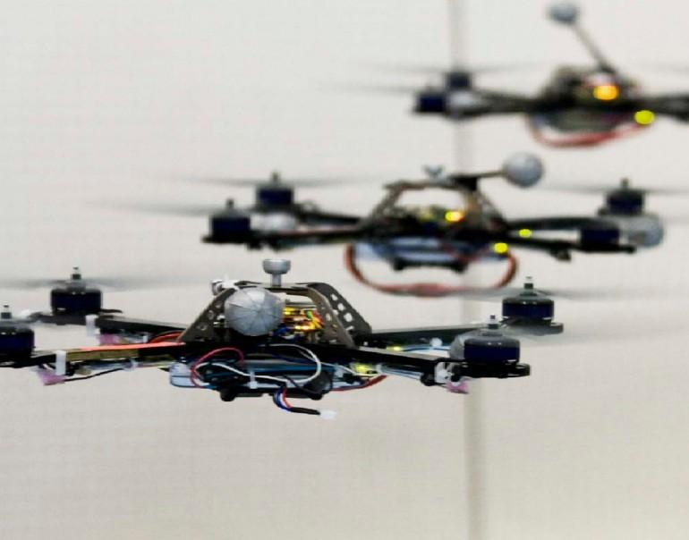 France's FRAC Center is hosting an exhibition built entirely by flying robots (Image: Raffaello D'Andrea)