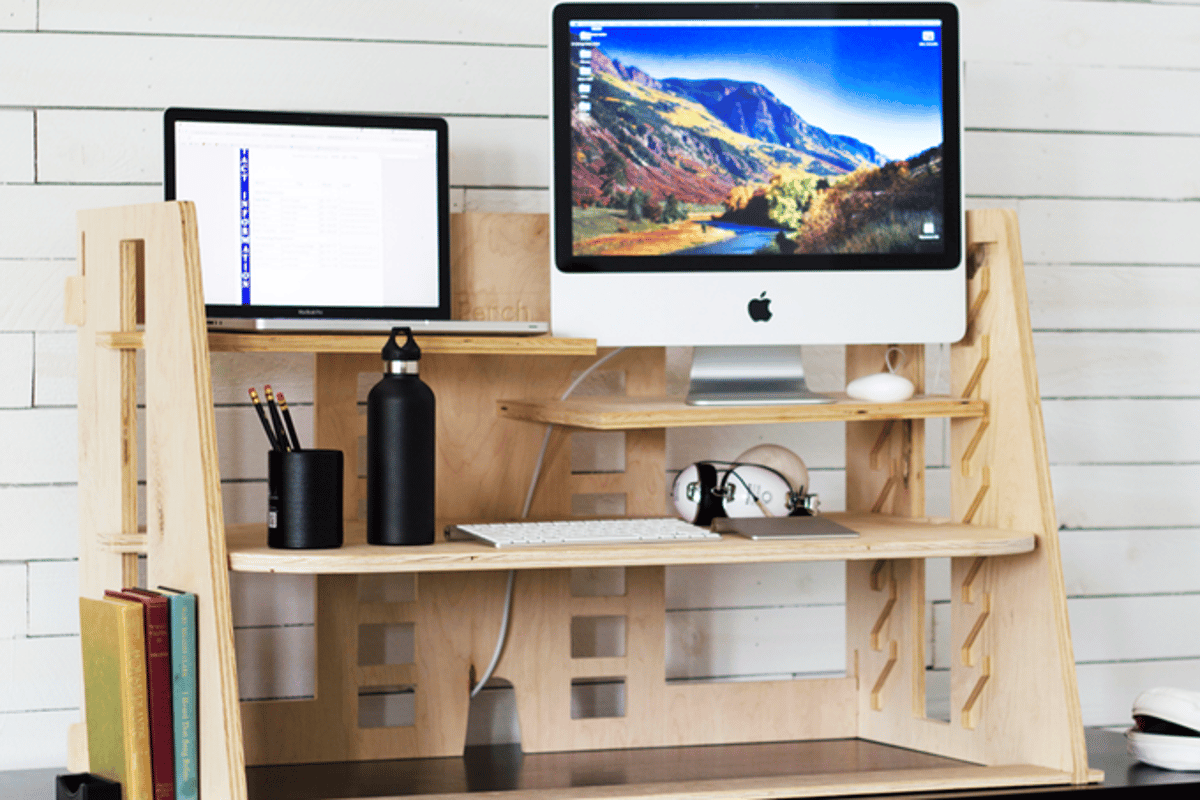 Perch Desk Stands On Adaptability