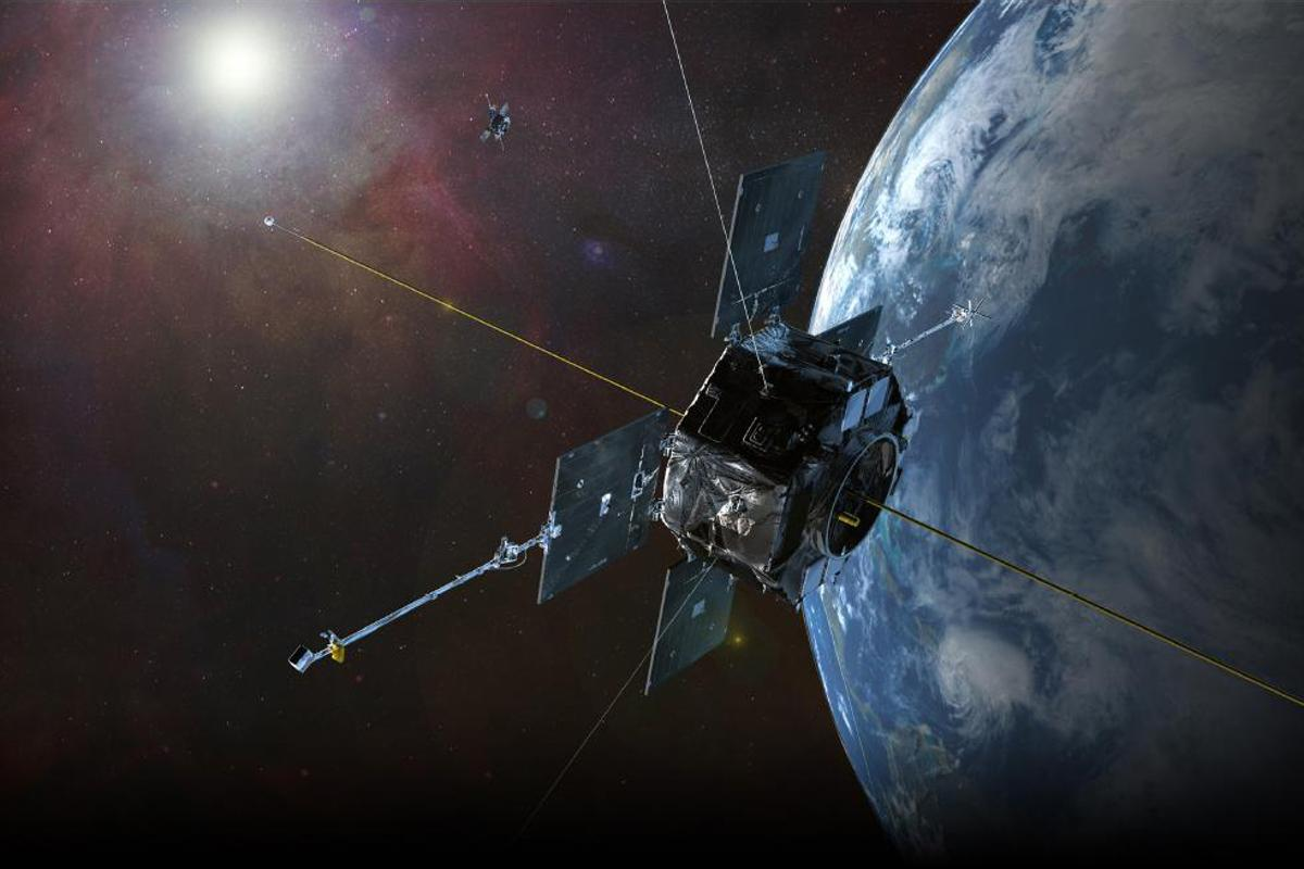 The data was collected by NASA's Van Allen Probes, seen here in an artist's rendition (Image: JHU/APL)