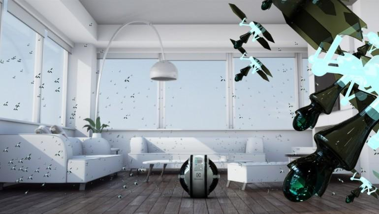 Taking the honors in last year's Electrolux Design Lab was Colombian designer Adrian Perez who caught the eye of the judges with his army of flying, surface-cleaning mini robots