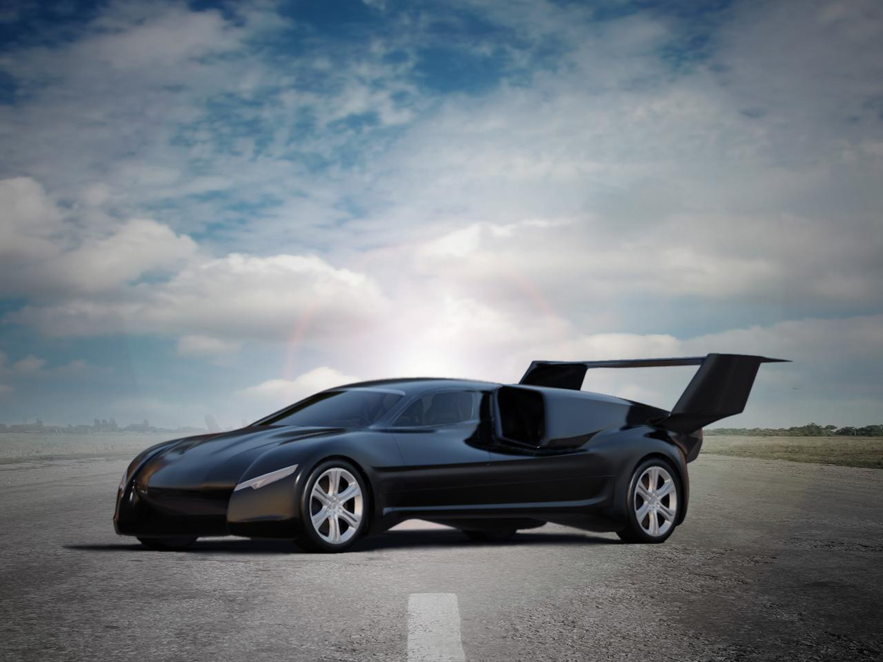 The Lanciare is a very long car at more than 24 feet with the rear stabilizer up - not quite limo long, but close