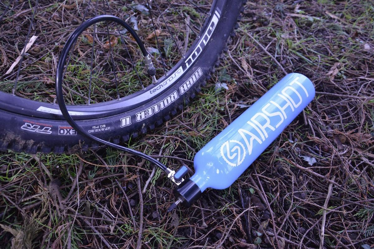 Airshot seats tubeless tires by delivering ... well, an air shot