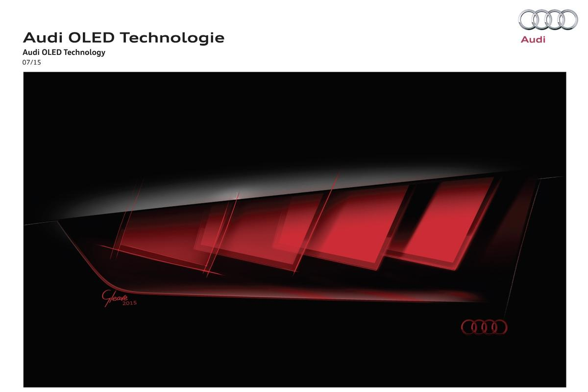 Audi will reveal a concept car with OLED taillights in Frankfurt