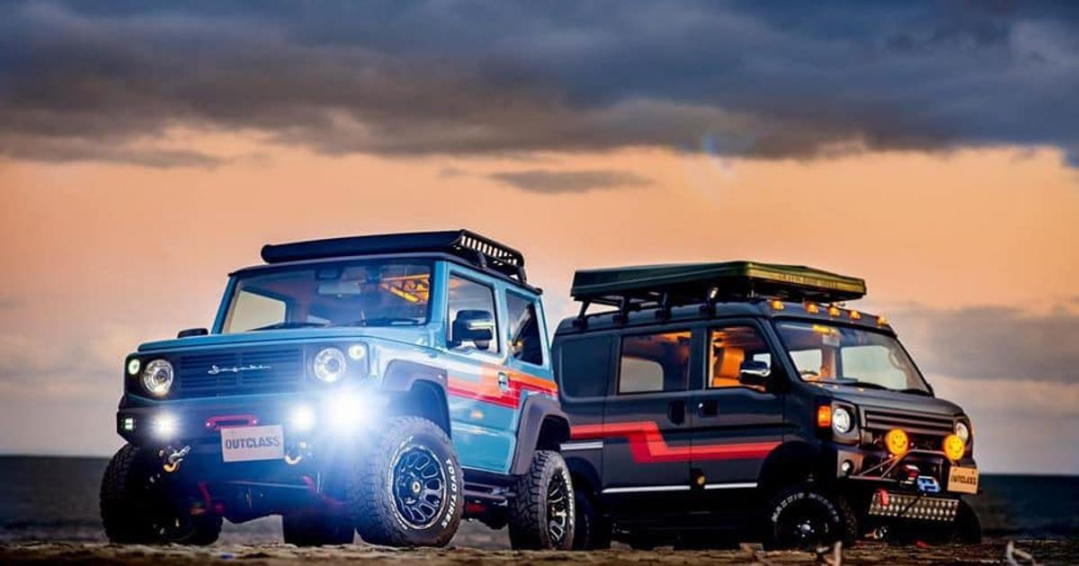 Outclass Suzuki off-road micro-camper van explores small spaces
