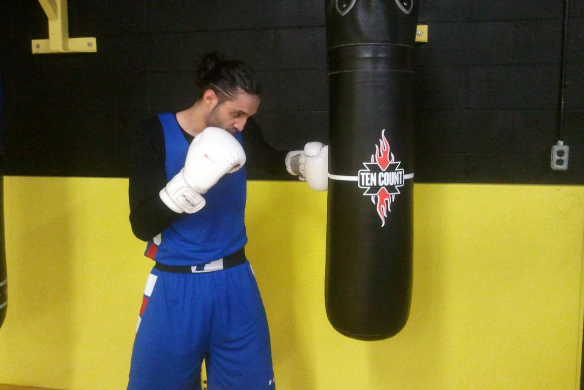 """The Ten Count is a """"smart"""" punching bag that records the number and force of the user's punches"""
