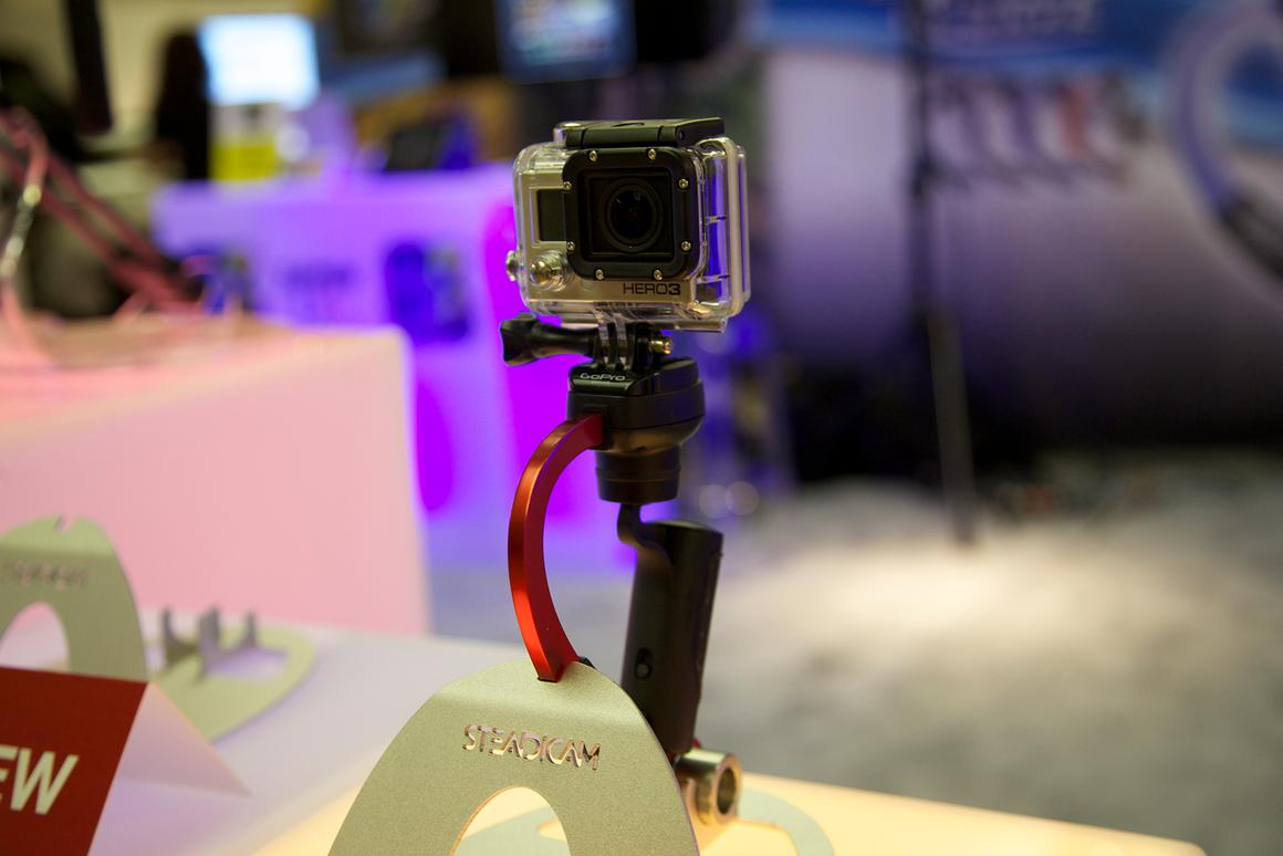 Tiffen's Steadicam Curve for GoPro Hero, on display at CE Week in New York