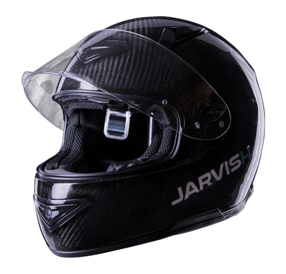 Jarvish X-AR HUD smart helmet: drop-down eyepiece adds an information overlay