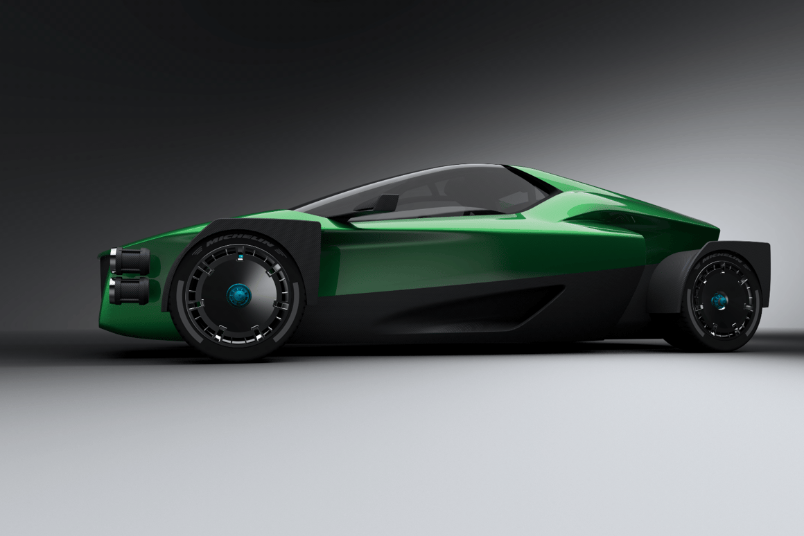 Xing Mobility's1,000-kilowatt (1,341-hp) electric on-road/off-road supercar called theMiss R