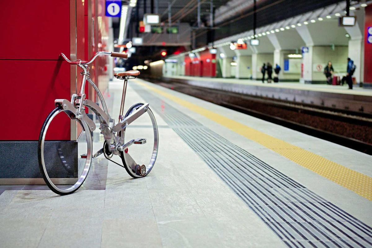 The Sada Bike folds down small, but has full-size wheels