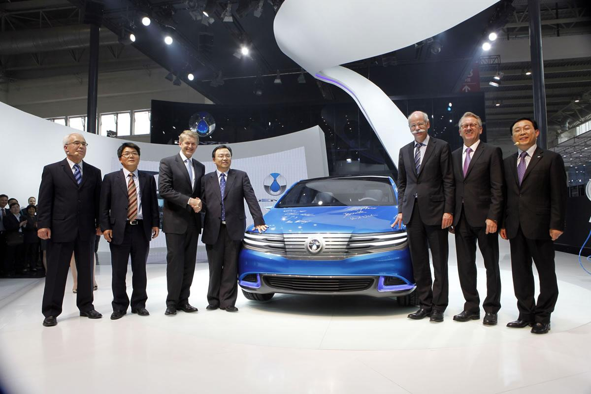 DENZA has unveiled its new all-electric vehicle at Auto China 2012 in Beijing