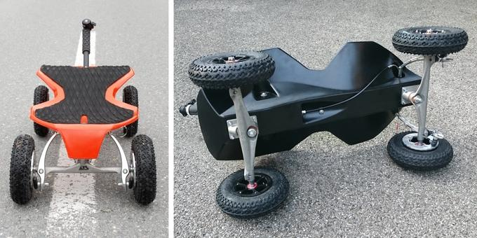 The Xraycer users an HDPE body and all-terrain tires