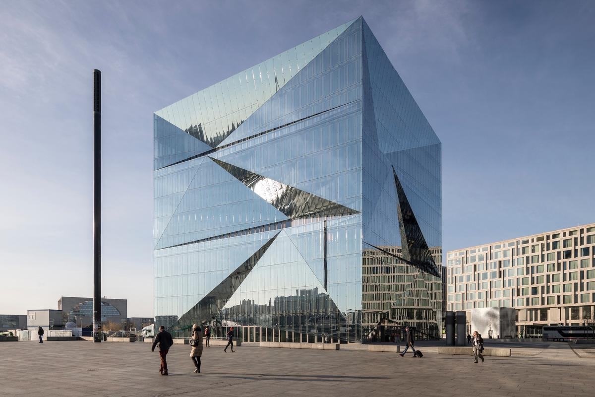 Cube Berlin is a true cube and measures 42.5 m (almost 140 ft) in each direction