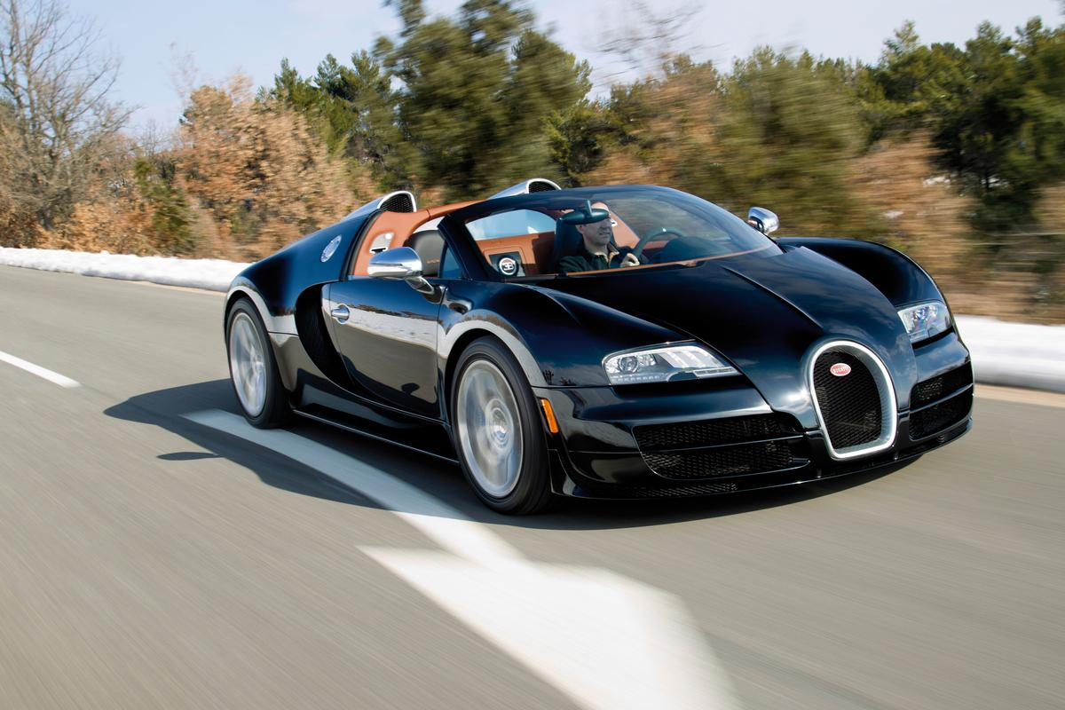 The Bugatti Veyron 16.4 Grand Sport Vitesse boasts 1,200 hp and a maximum torque of 1,500 Nm
