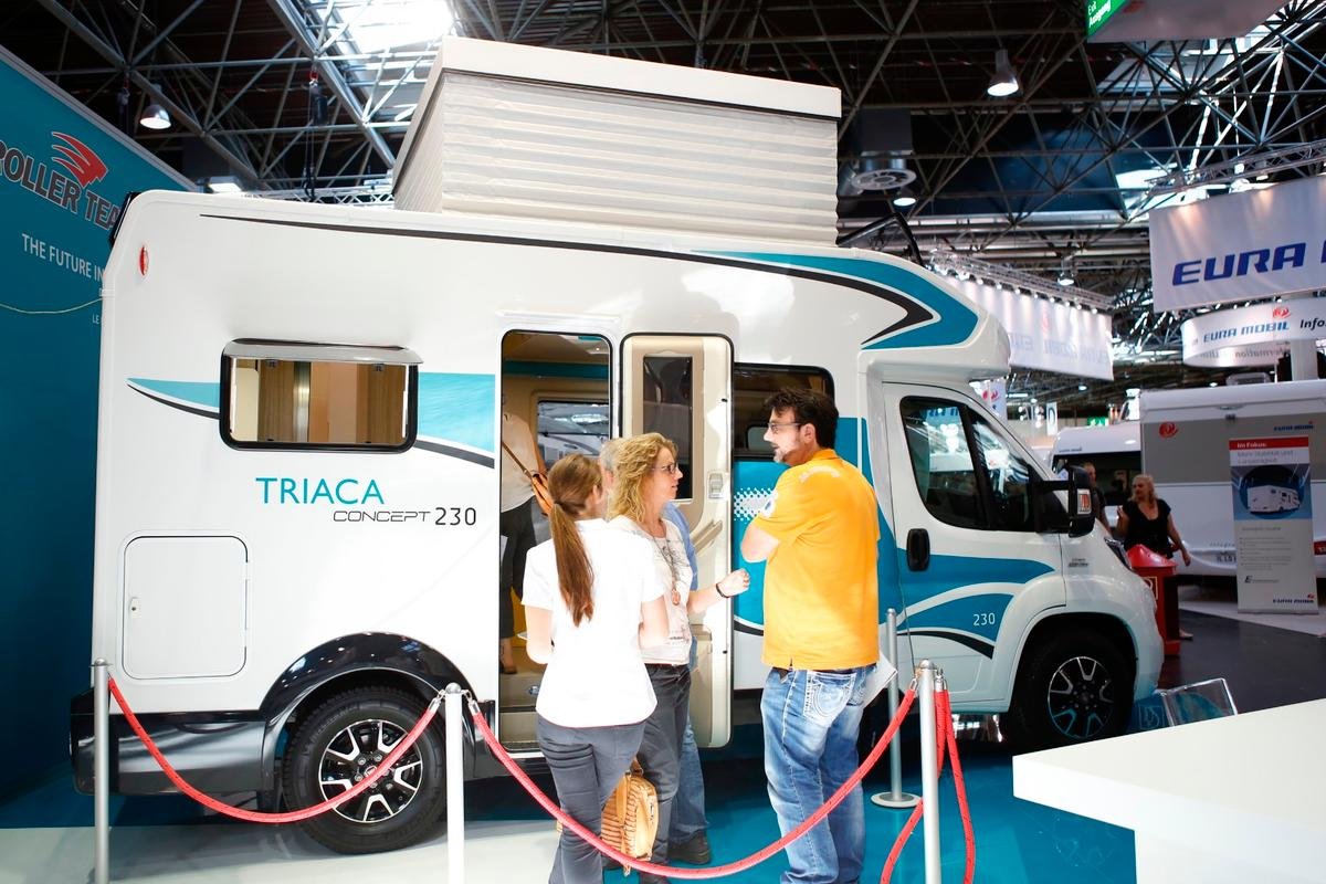 The Triaca Concept 230 at the 2015 Dusseldorf Caravan Salon
