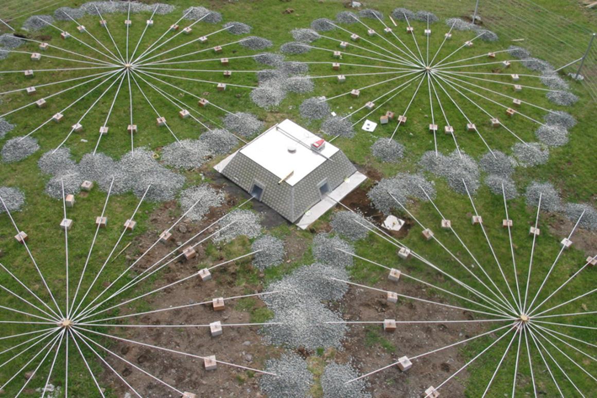 Arrays of infrasound station IS49, Tristan da Cunha, United Kingdom