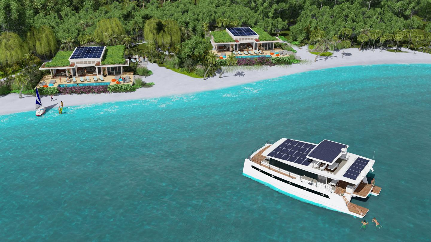 Silent Resorts guests can enjoy sun and sea while docked or venture farther out