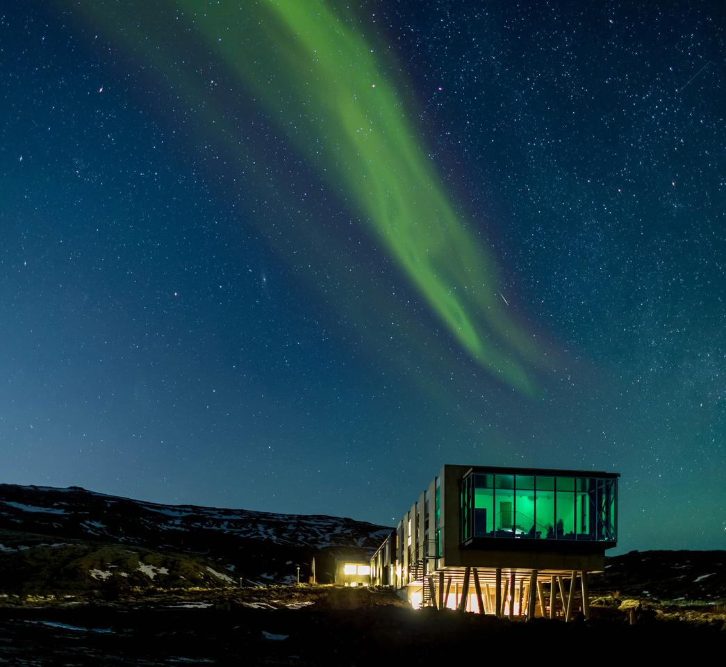 Nestled amid the diverse Icelandic landscape, the ION Adventure Hotel is in prime position to view the northern lights