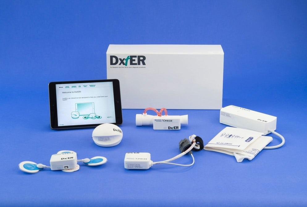DxTeruses a set of non-invasive sensors to check vital signs, body chemistry and biological functions