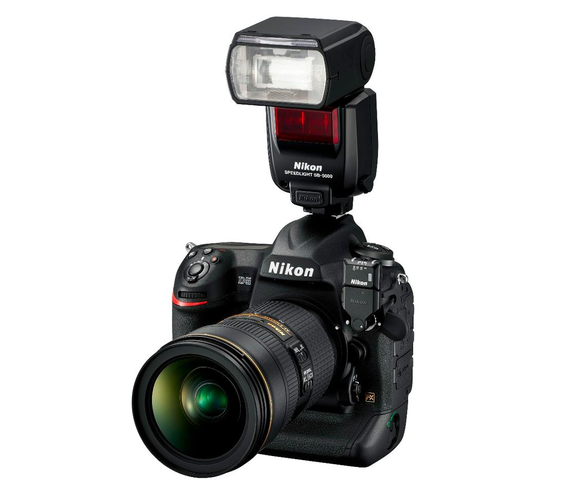The Nikon D5 is compatible with Nikon's new radio-controlled Advanced Wireless Lighting SB-5000 flash