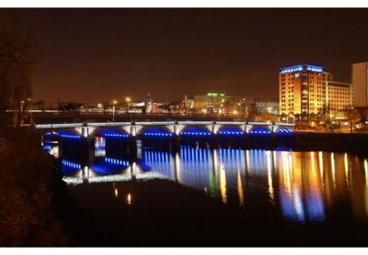 Glasgow Bridge is lit by Philips
