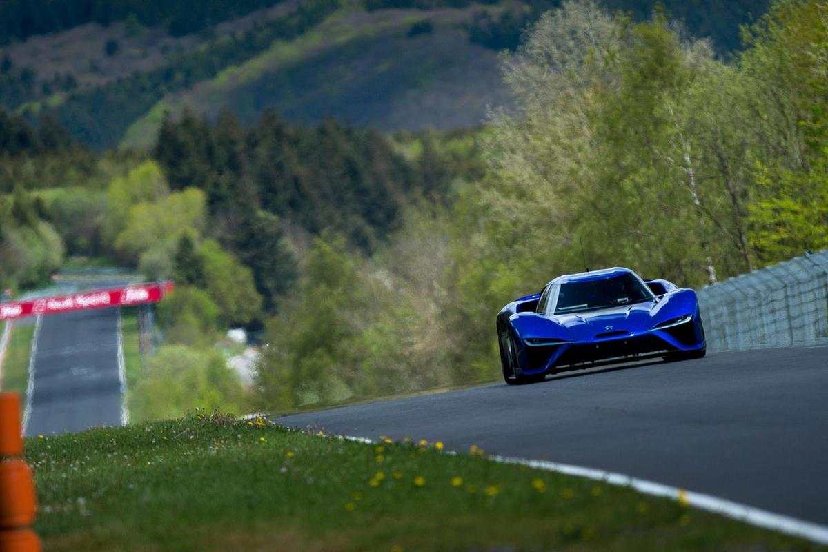 The NIO EP9 tackles the Nurburgring Nordschleife