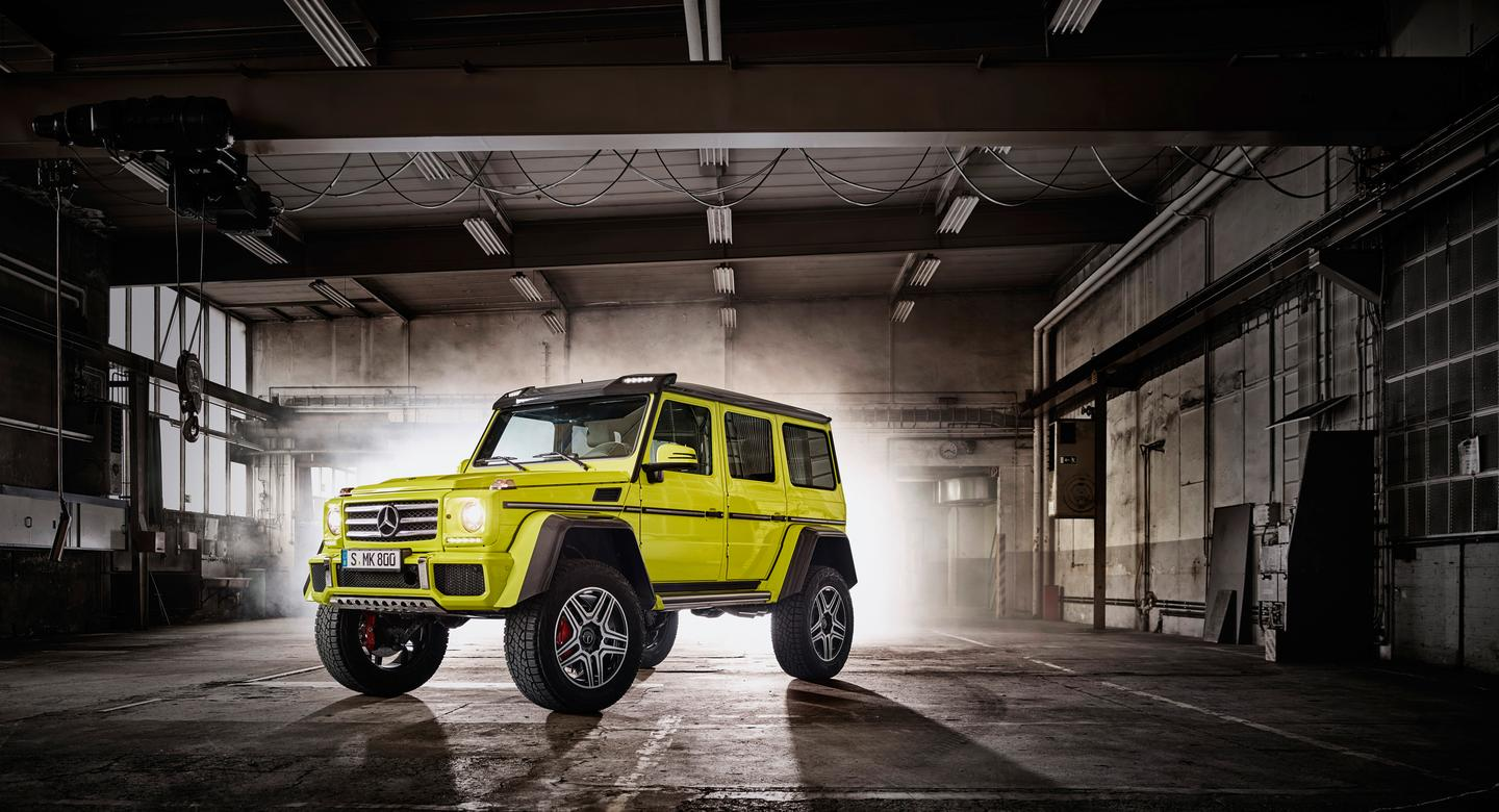 Rally inspired dampers can adjust the The G 500 4x4 Squared's suspension feel in just milliseconds