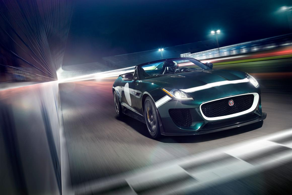 The Jaguar F-Type Project 7 is fully road legal