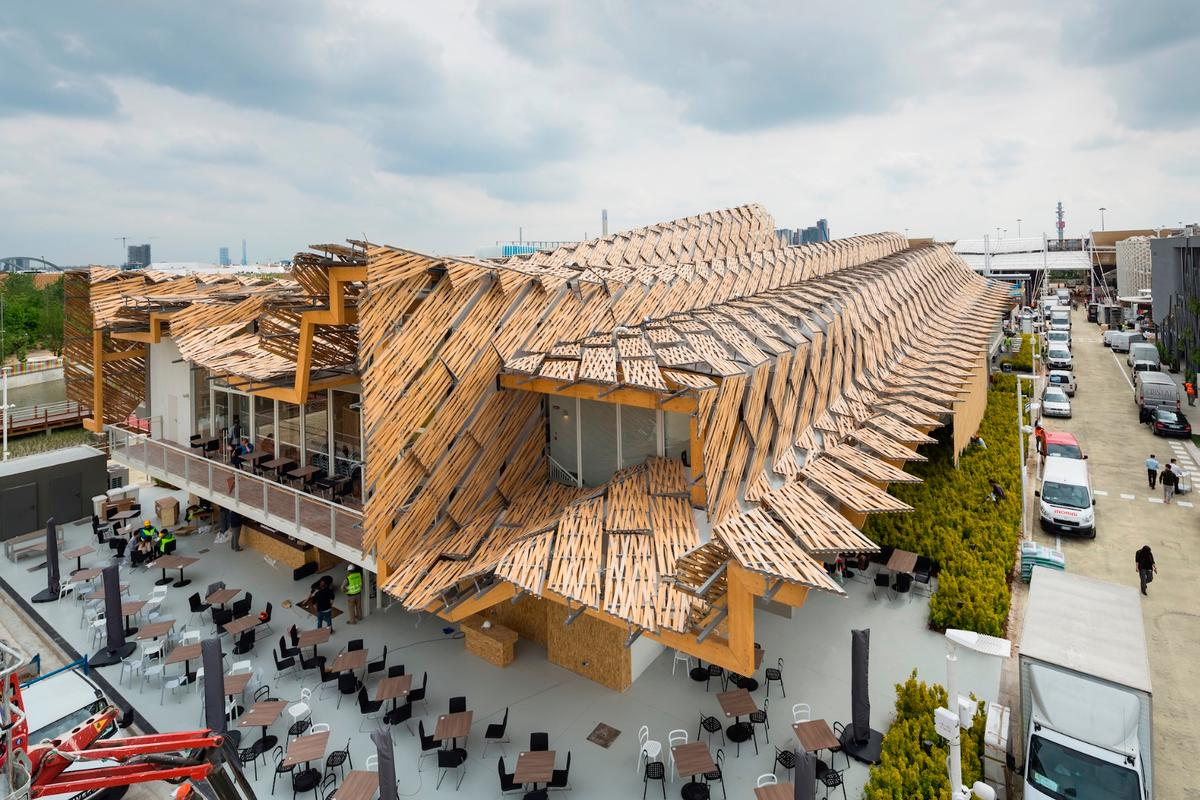 The China Pavilion for Milan Expo 2015 won the Beauty of Wood – Innovation prize
