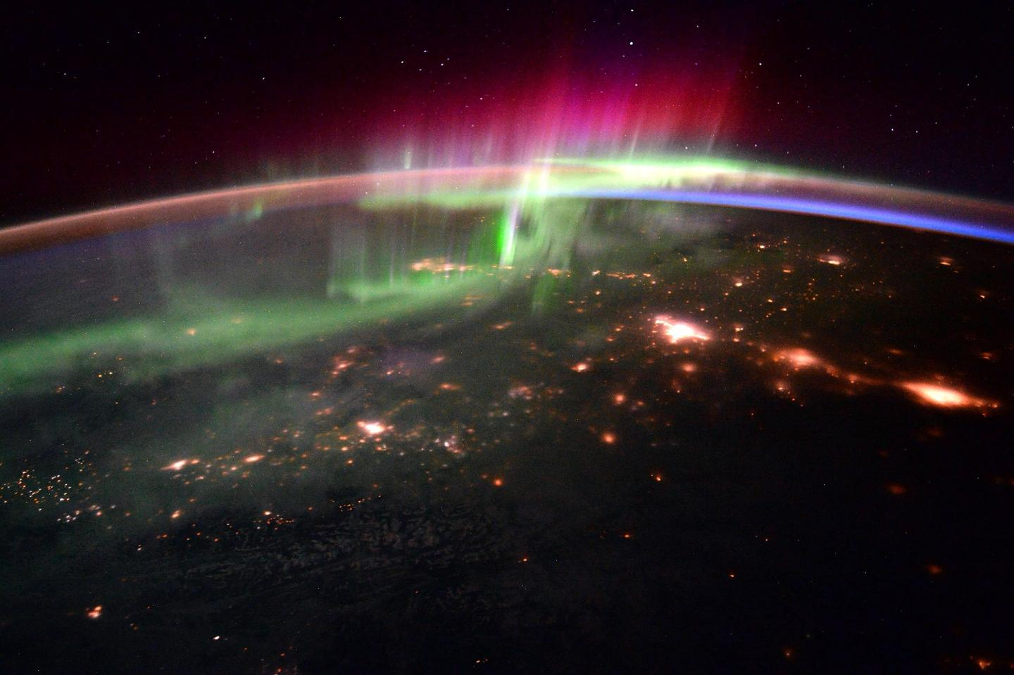 Image of an aurora captured from the ISS on Jan. 20, 2016