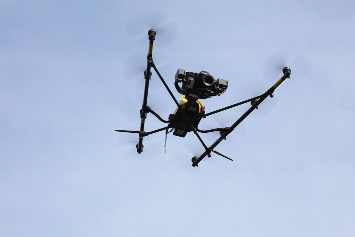 One of the drones used in the study