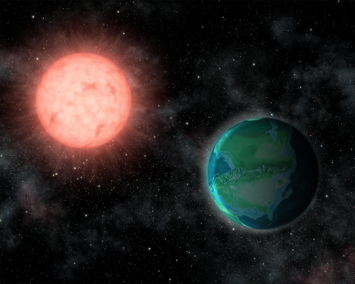 The intense UV radiation that bombards exoplanets orbiting red dwarf stars might not hinder life, according to a new study