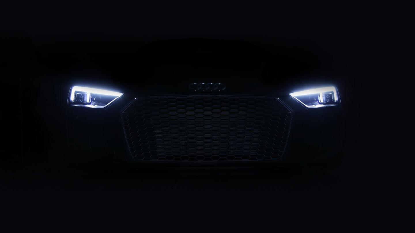Audi cuts through the night with laser lights