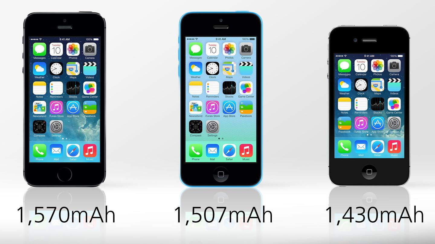 All three iPhones deliver solid battery life
