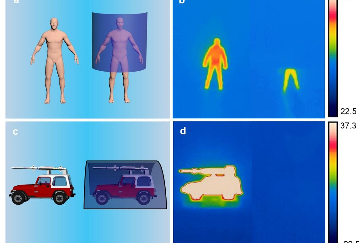"""Engineers have developed an ultrathin, lightweight """"stealth sheet"""" that can effectivelyhide objects and people from infrared sensors"""