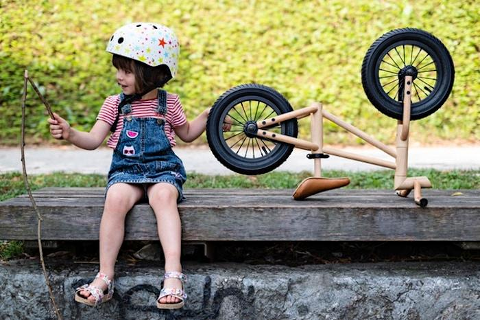 Bixie balance bike is a lightweight, all-natural design that makes learning to ride sustainable