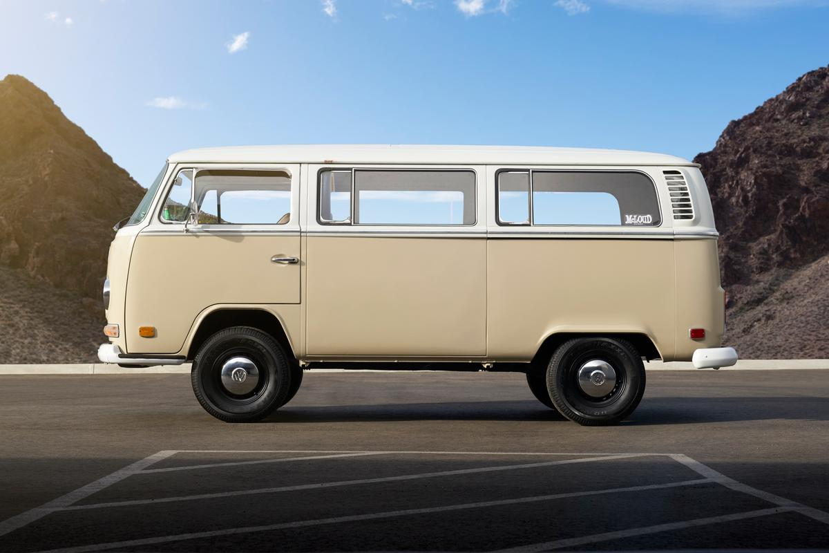 This VW bus trades out its powertrain but not its classic look