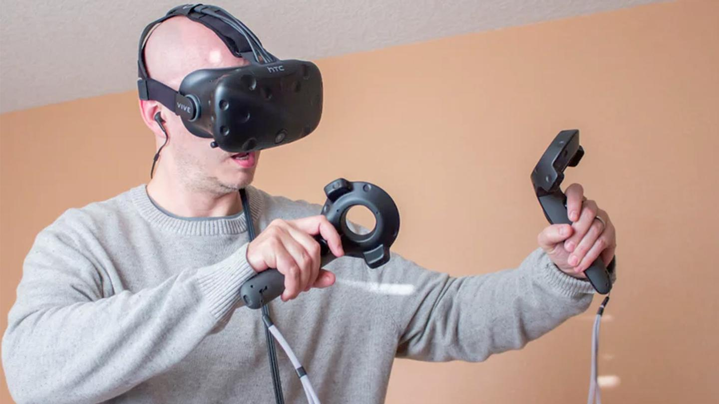 The HTC Vive is the current leader in VR positional tracking, but it requires external sensors to contain the user