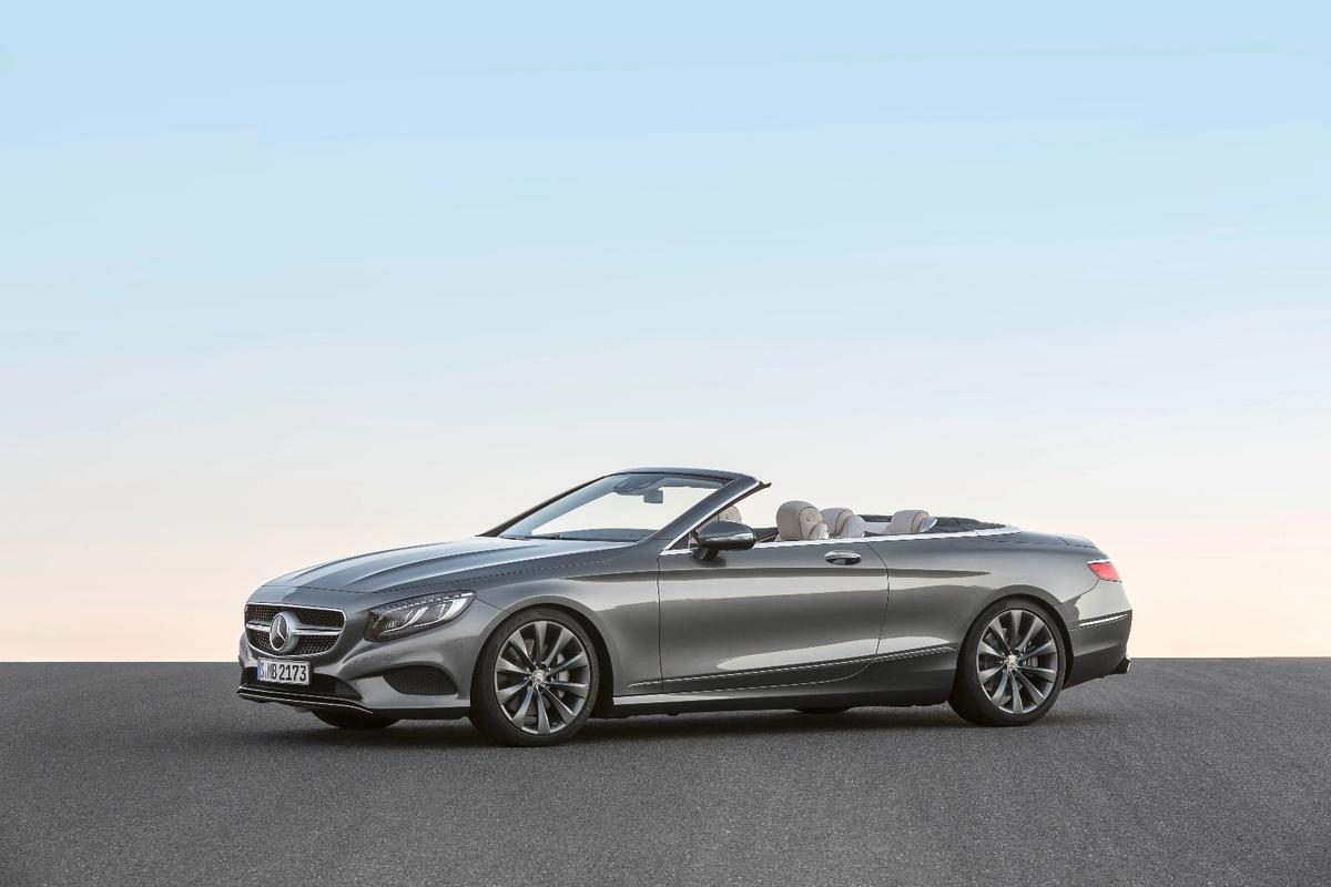 The S550 Cabriolet joins the already massive S-Class lineup, which includes a Coupe, long and short wheelbase versions and a Maybach limousine