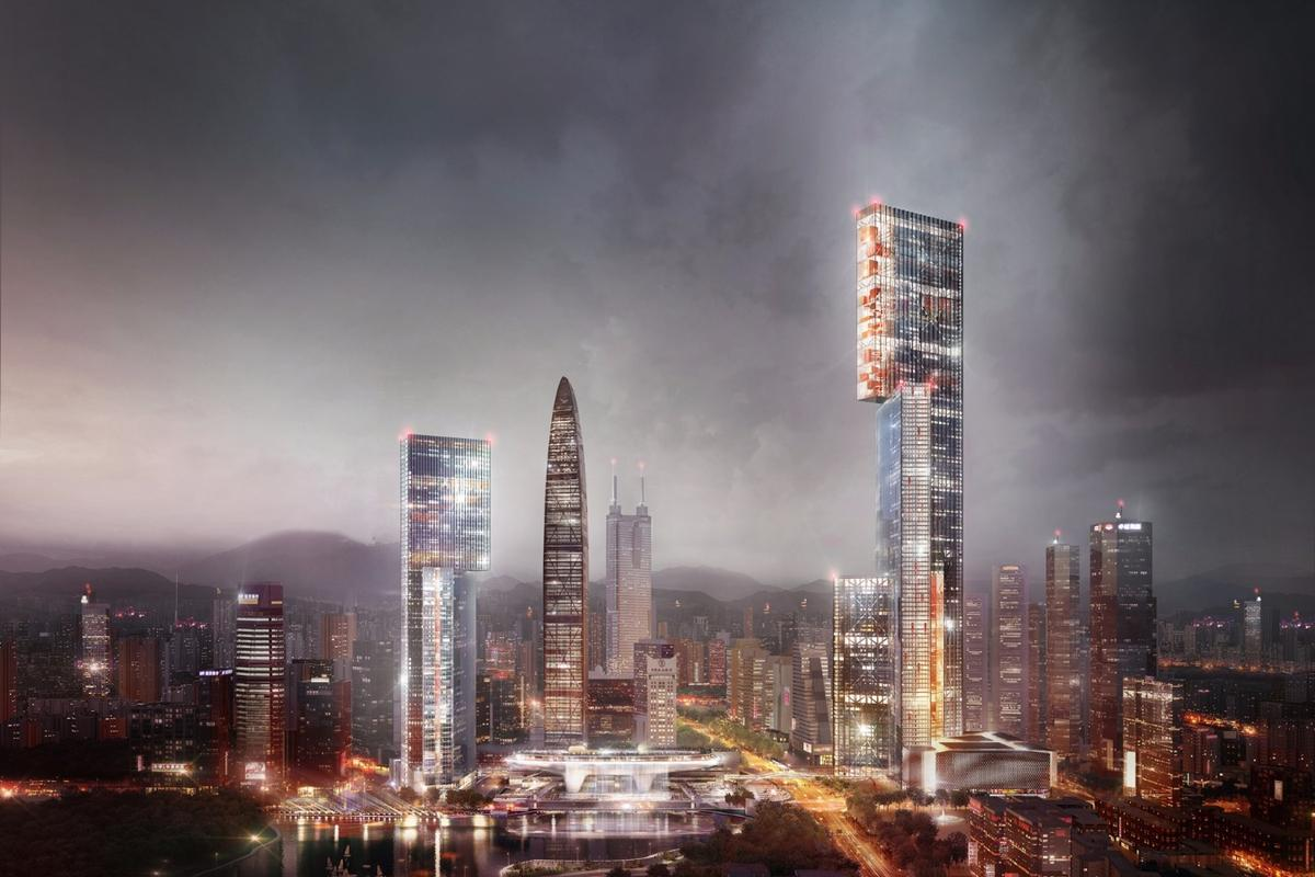 By splitting the Nexus Building into three volumes, it is said to be better equipped to deal with wind and and for the lifting requirements of its huge mass